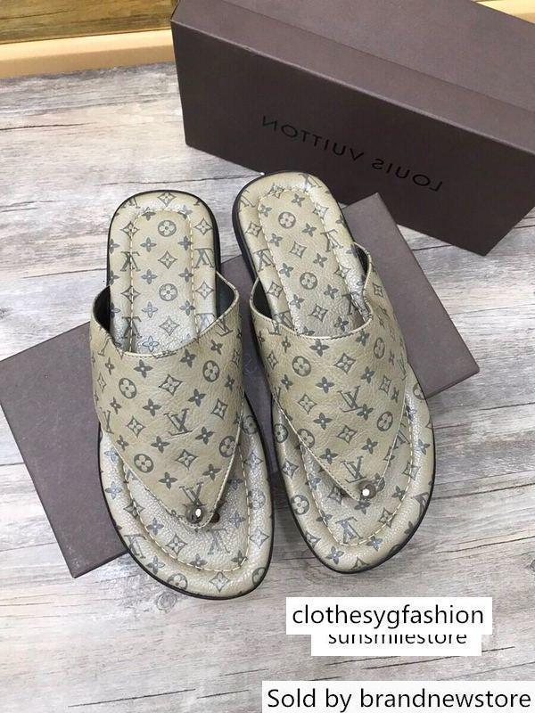 Grau gedruckt Flip-Flops Männer Kleid Schuhe STIEFEL LOAFERS DRIVERS BUCKLES Schuhe Sandalen