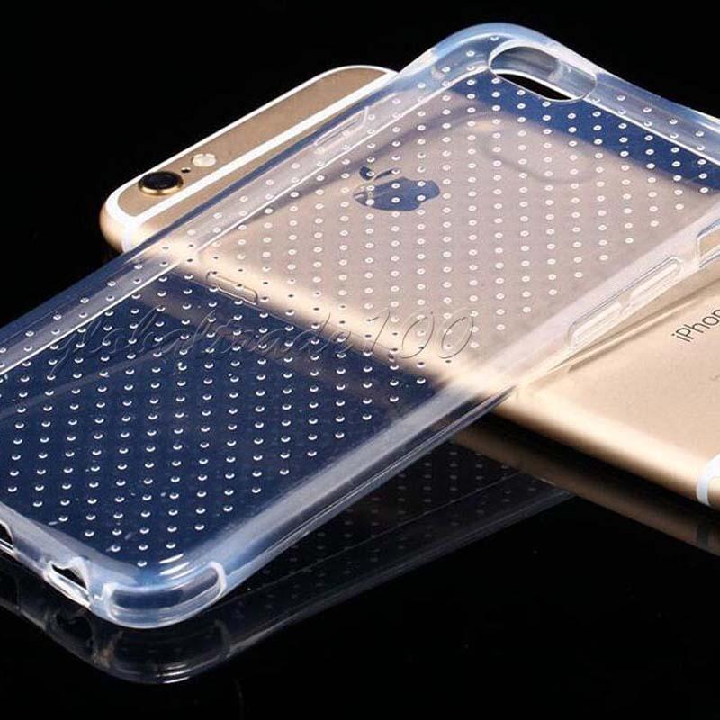 Für iPhone 7 5S 6S Plus-SE TPU Abdeckungs-Fälle Rückgehäuse ultra dünner Kristall Gravity Prevent zerschmetterten Fall Opp Beutel Freies DHL