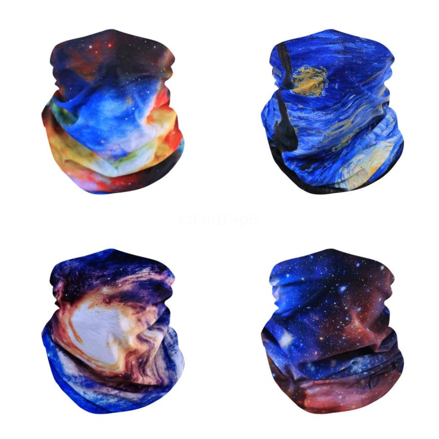 Festival Smoke Printing Masks Magic Scarves Motorcycle Bicycle Half Face Mask Ghost Scarf Multi Use Neck Ghost Half Face #126#557