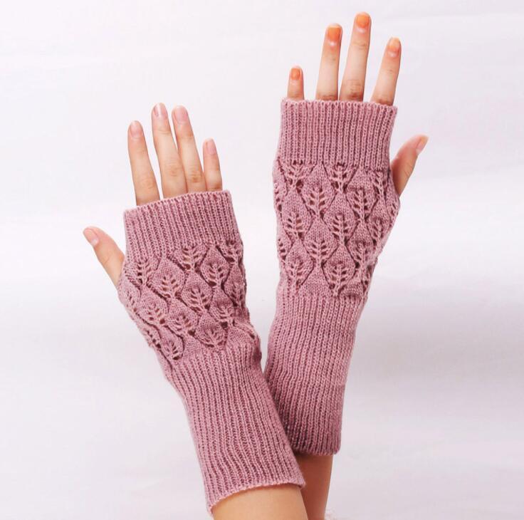 قفازات الجوف خارج قفازات أصابع سيدة طويل ميت نصف الاصبع قفاز الشتاء الخريف أصابع قفازات الذراع اليد أدفأ القفازات LSK410
