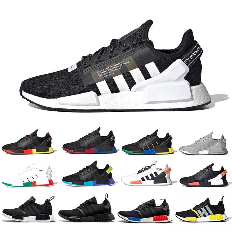 Core Black White Nmd R1 V2 Mens Running Shoes Mexico City Oreo Og Classic Aqua Tones Metallic Gold Men Women Japan