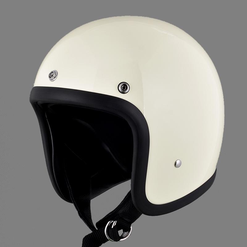 Casque de moto en fibre de verre 3/4 moitié casque moto JapanCO rétro capacete da motocicleta