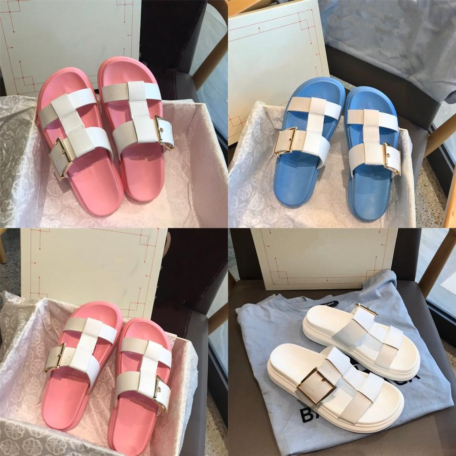 Hot Sale-Women Cozy Slippers Fashion Metal Bling Slides Fur Fringe Flip Flops Summer Flat Slides Outside Ladies Shoes#355