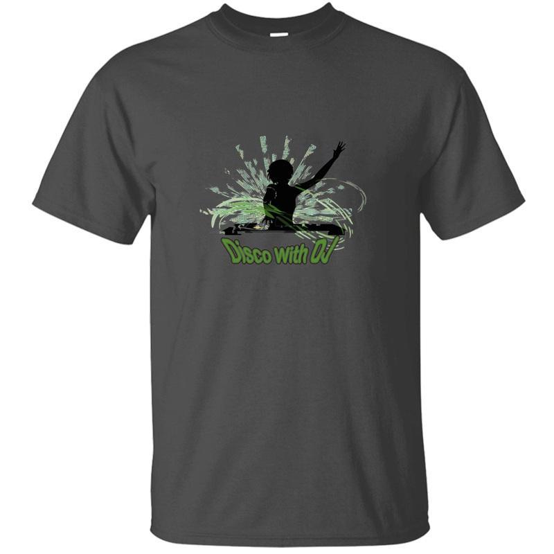 Impresso Disco Com Dj T-shirt para Homens 100% gráfico da menina Gents aptidão Boy Cotton camisetas de manga curta Top Quality