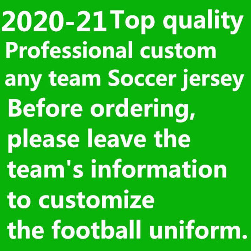2020 2021 Hommes enfants personnaliser Toute l'équipe de football Jersey 20 21 Messi M.SALAH Kane football Kits Chemises uniformes 10 pcs gratuit DHL!