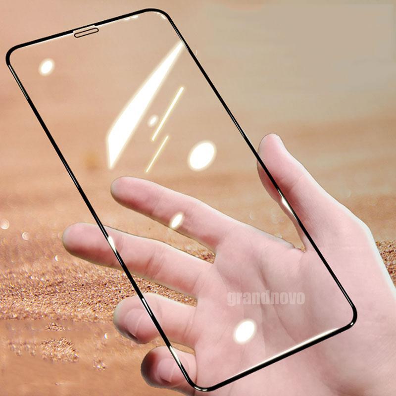 Vidro temperado cobertura completa da tampa curvada tela iPhone Protector Film Guarda de protecção para 12 Pro Max 11 XS XR X 8 7 6 6S Além disso SE 2020