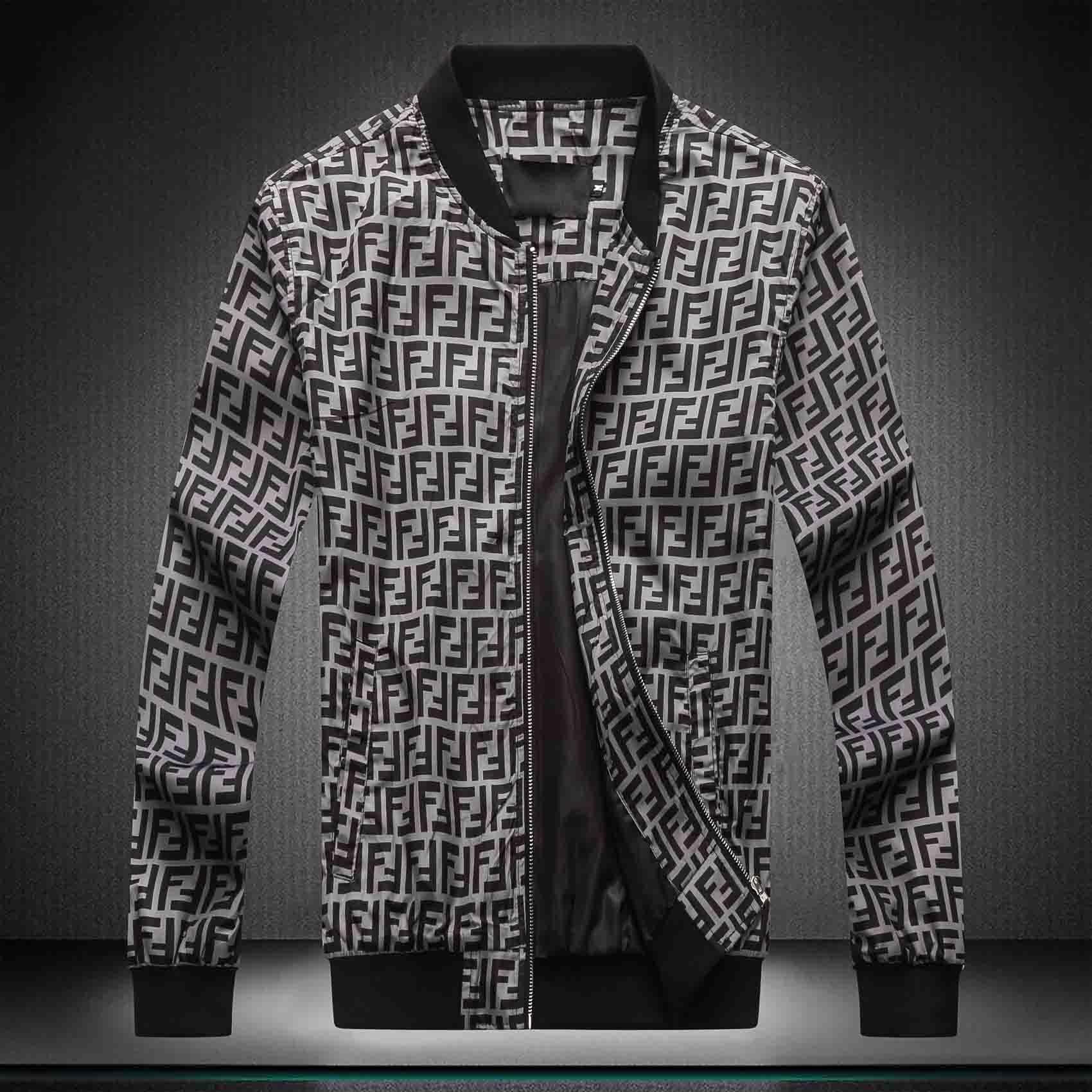 dos homens do revestimento do revestimento dos homens Padrão manga comprida Zipper Imprimir Moda de Slim Trench Outono Outdoor Jacket Wear
