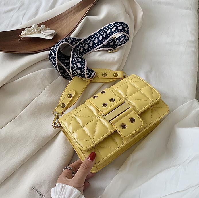 wholesale women handbag simple atmospheric plaid shoulder bag comfortable striped wide shoulder strap women messenger bag leather fashion ba