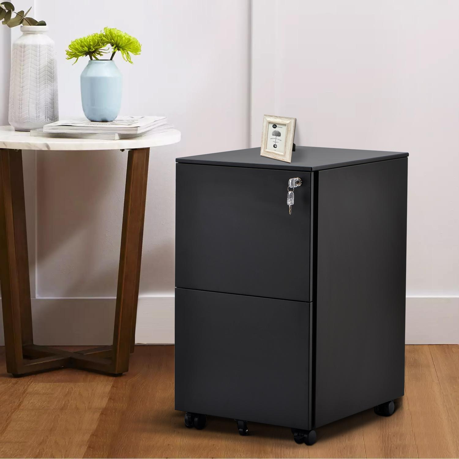 355 Mobile File Cabinet With Lock Metal Filing Cabinet Legal Letter A355  Size Fully Assembled Except Wheels 355 Drawer White Black From Zikun355,  $35565.35