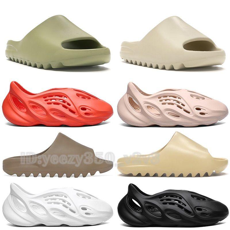 2020 Новый Kanye West Трусы Мужчины Женщины Slide Bone Earth Brown Desert Sand Slide Дизайнер Смола мужские сандалии Runner Размер US5.5-11