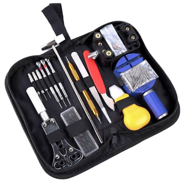 147 шт Watch Repair Tool Kit Дело открывалка Link Spring Bar Remover Kit Часы металла Watchmaker Инструменты для регулировки диапазона заданного