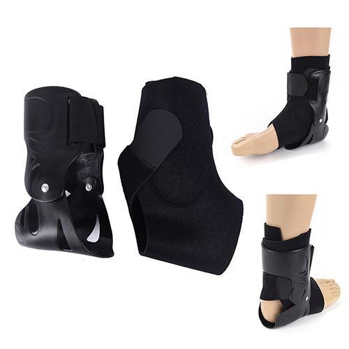 Elastic Splint Strap Sports Suporte tornozelo Brace Pé Guarda Entorses Enrole Preto