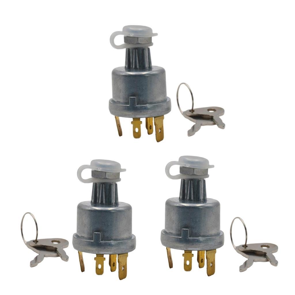 3x 12V / 24V Interruttore metallo Trattore 4 Posizione di accensione per Lucas 35670 128SA