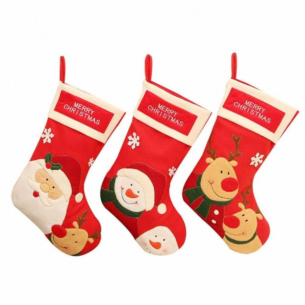 Ciondolo bagagli Calze Borsa di Natale creativi per la decorazione di Natale appeso ornamenti Props fai da te accessori qfZd #