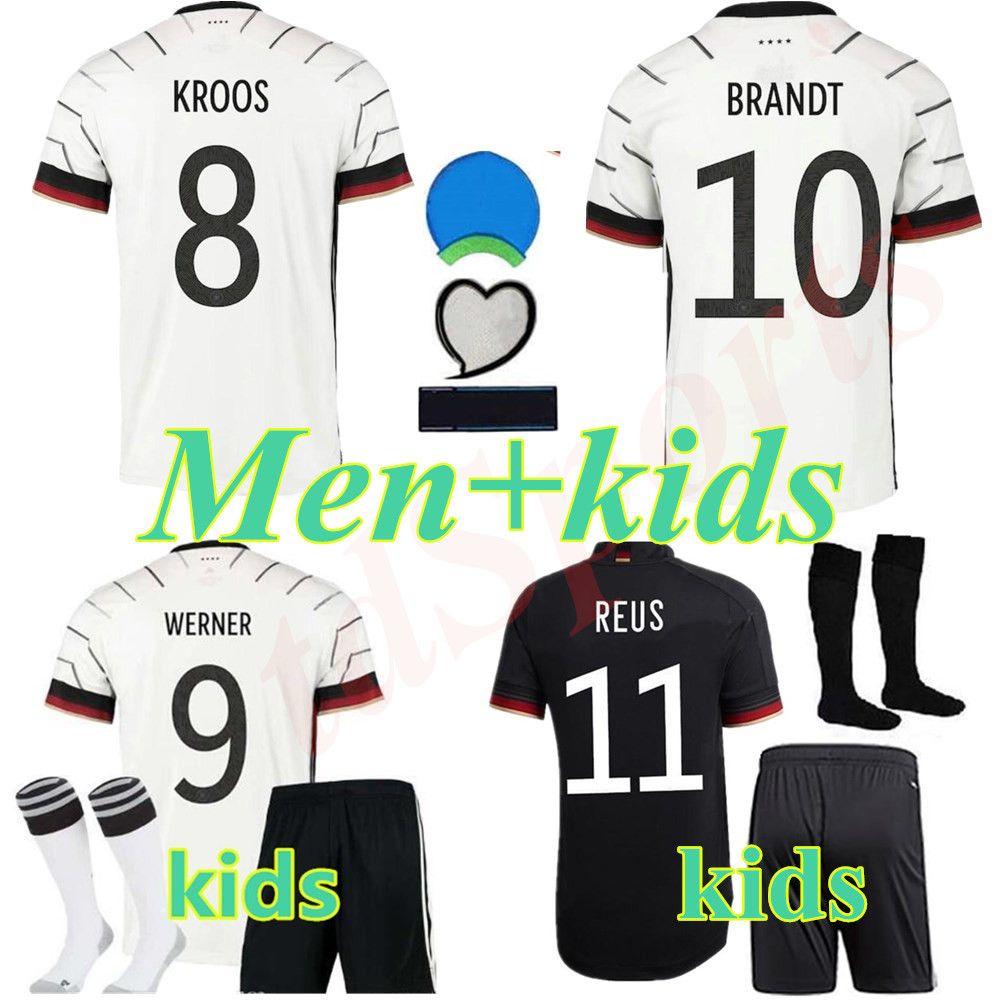 Alemania 2020 camiseta de fútbol Inicio kit de distancia Hummels KROOS DRAXLER REUS MULLER GOTZE KIMMICH gundogan kit 20 21 camiseta de fútbol uniformes hombres hijos