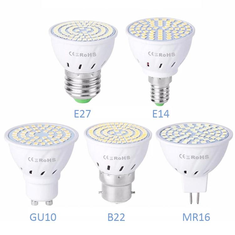 GU10 LED E27 Lamp E14 Spotlight Bulb lampara GU 10 bombillas led MR16 gu5.3 Lampada Spot light B22 5W 7W 9W