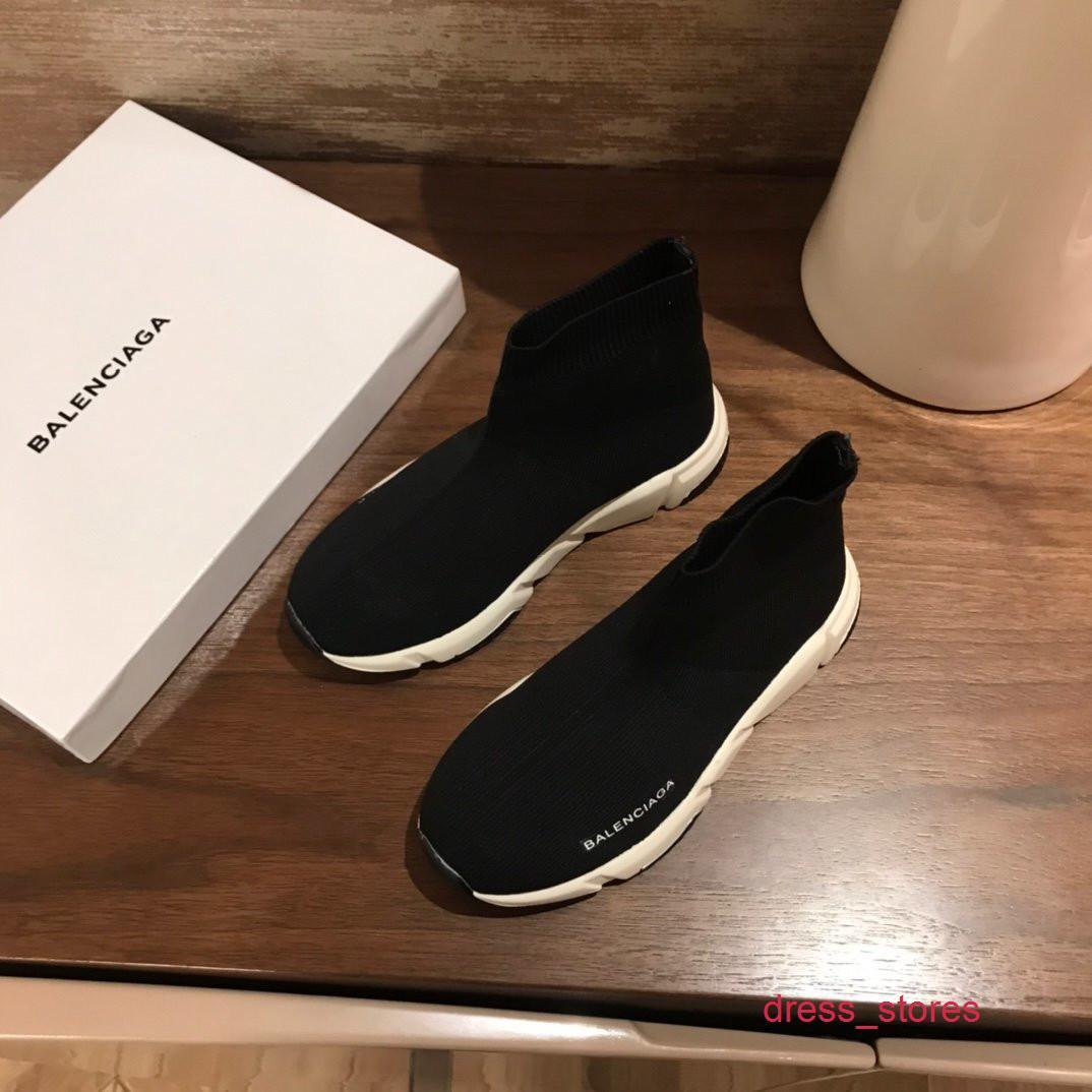Zapatos para niños de ocio de la nueva manera Niños Niñas top del alto botas transpirable de punto de pisos