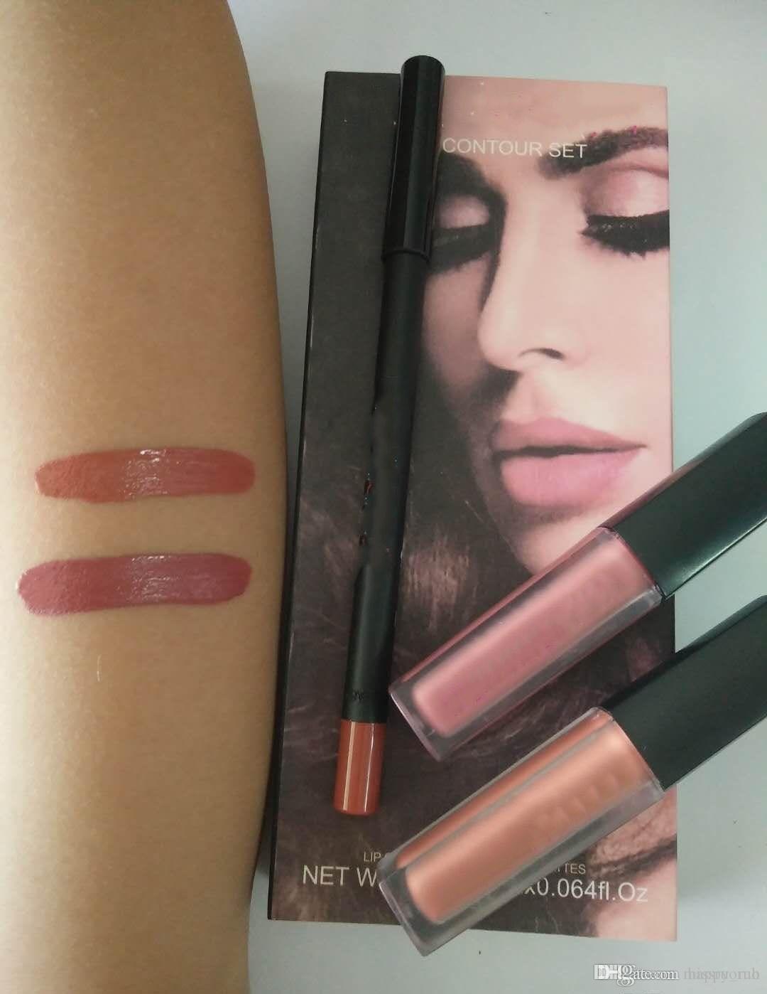 2018 NEW BEAUTY lip contour+ 2 mini liquid mattes Vixen/Trendsetter /Trophy Wife Liquid Matte Liquid Lipstick Duo & Pencil 3 colors DHL FREE