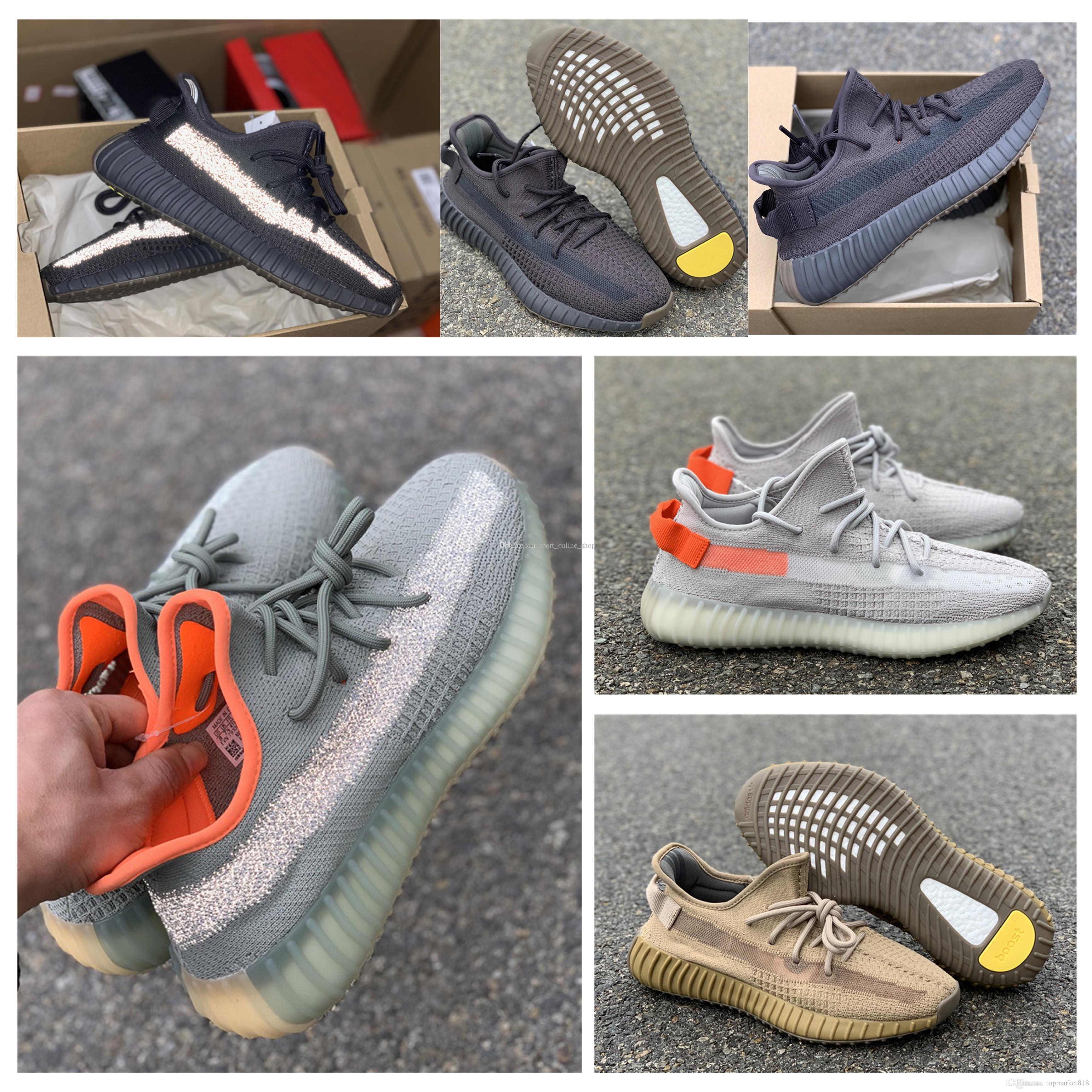 En Yeni kanye v2 Çöl Adaçayı cüruf Dünya'nın yecheil 3M çalışan yansıtıcı ayakkabı Zyon siyah statik Kuyruk Işık Keten erkekler kadınlar spor ayakkabıları keten