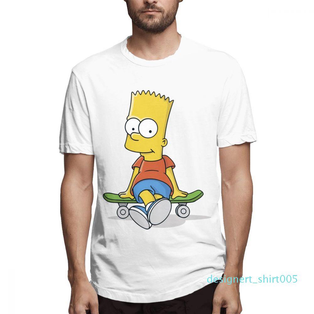 Moda Tasarımcısı Gömlek Erkek Kısa Kollu Simpsons Baskılı T Gömlek Causalcasu pamuk Erkek s58d05 Tops Gömlek Womens