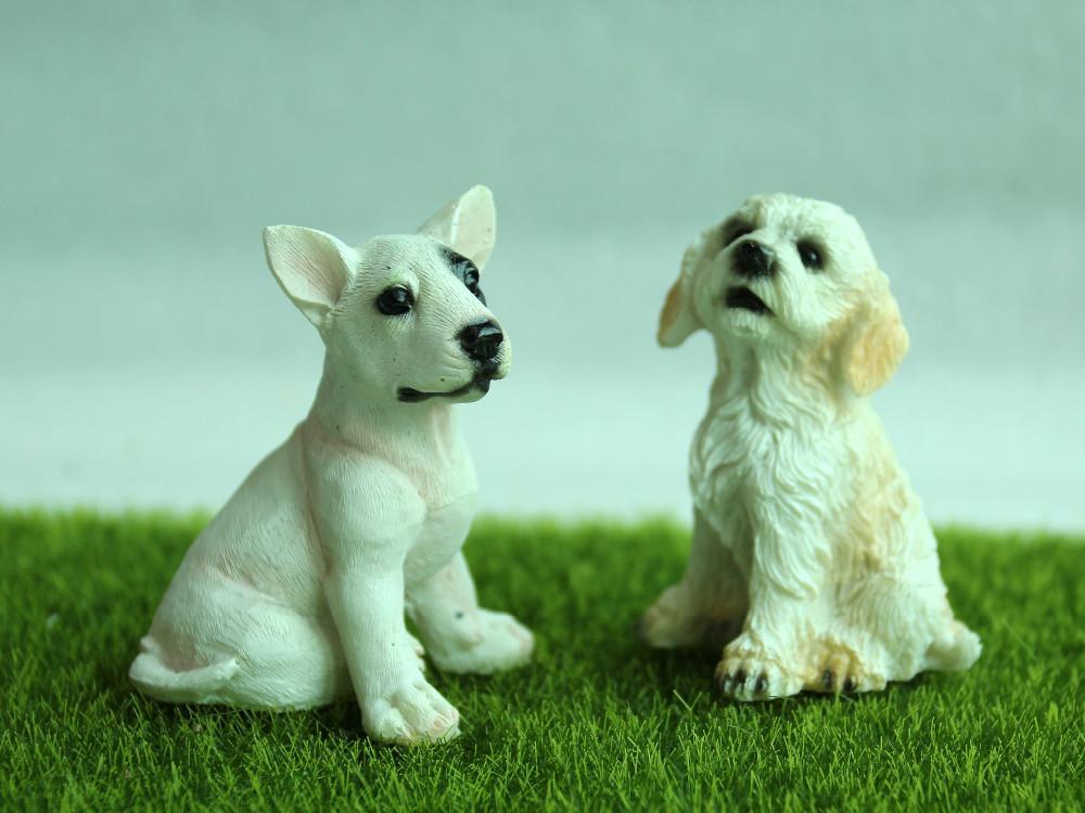 Eco-Friendly miniatura da fada do ornamento Decoração Jardim Micro Paisagem Dog Figurines Dollhouse Resina Decoração Para Mini Jardim Decor