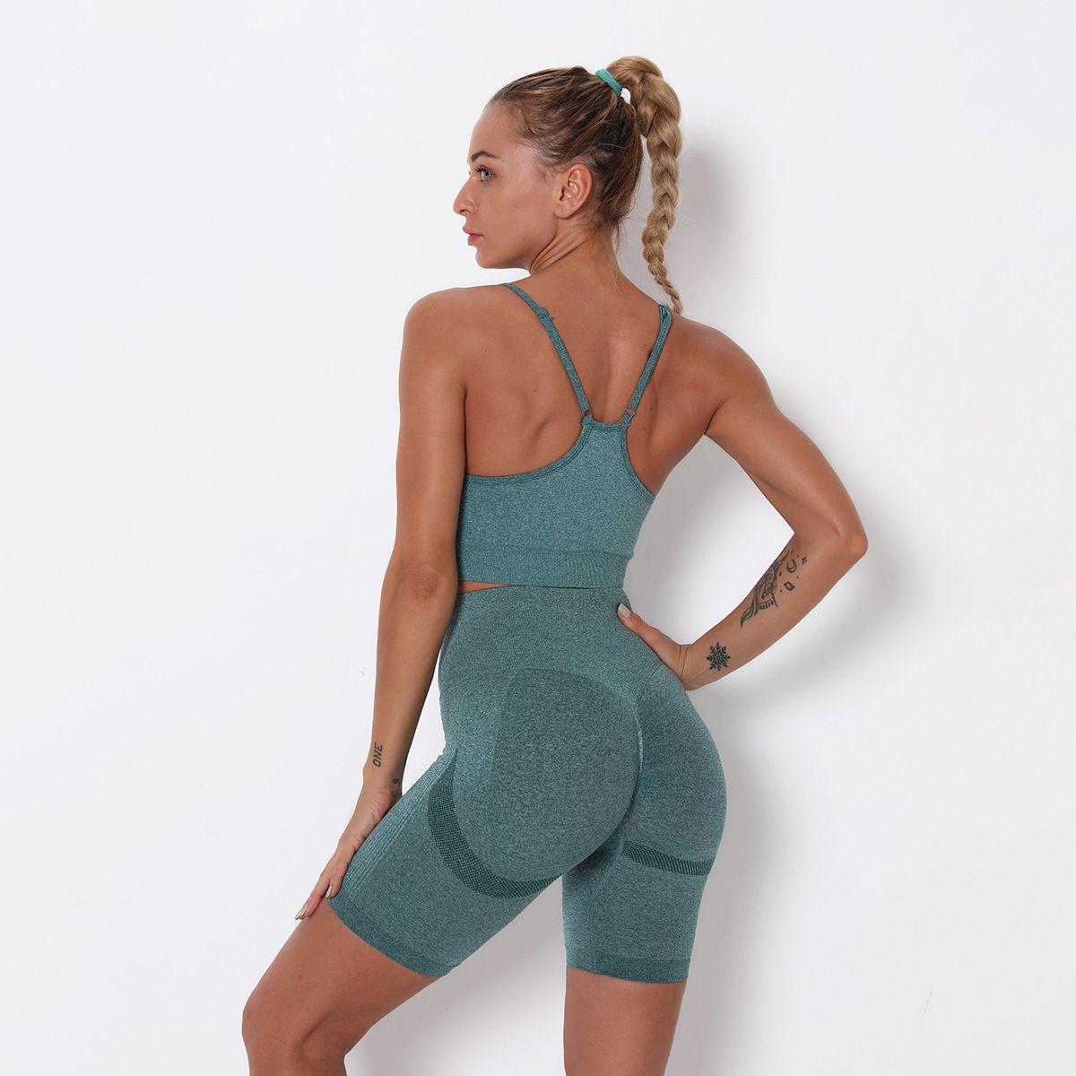 Trainingsanzüge Yoga Sportswear Sport Nahtlose Outfits Womens Zweiteiler Set Workout Shorts Sleeve Gym Massive Leggings Fitnessstudio Anzug Fitness Outdoor Yogaworld Richten Hose Lehre