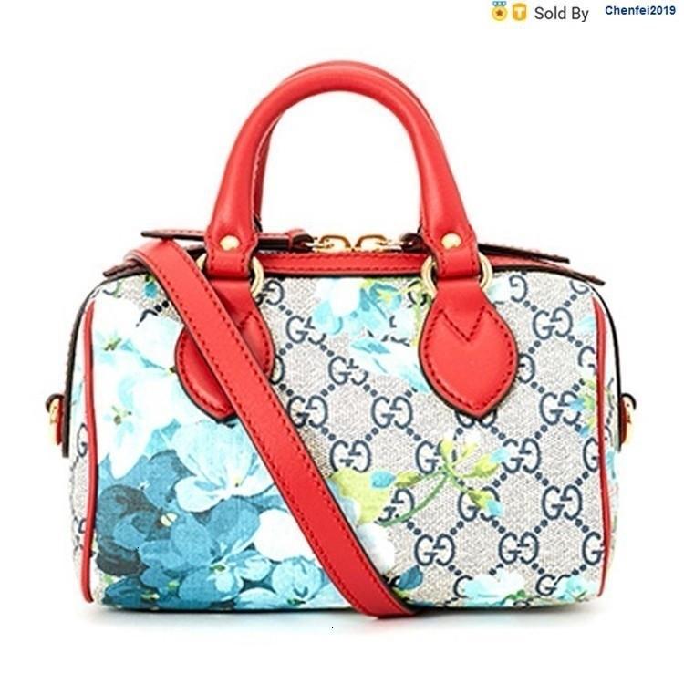 chenfei2019 VS3X Canvas Geranium Mini Bucket Bag Handbag 546312 Totes Handbags Shoulder Bags Backpacks Wallets Purse