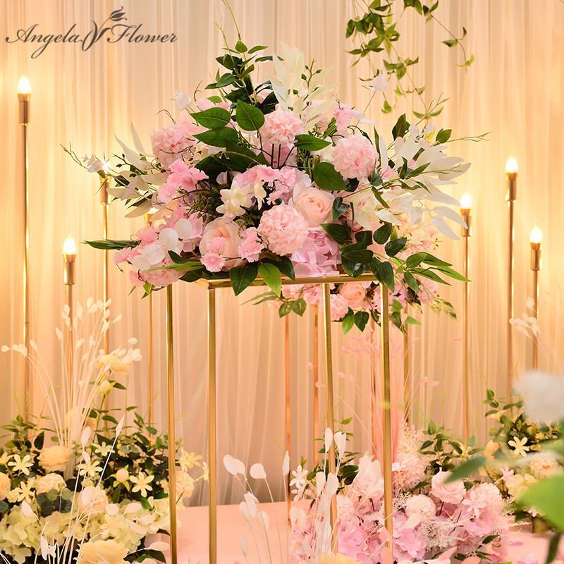 Fiore artificiale pompon 40 centimetri sfondo di nozze decorazione palla centrotavola Via della Seta palla di fiori conducono muro bouquet floreale rosa T200721