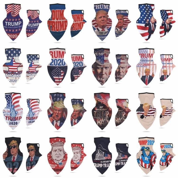 US STOCK, 16 Designs 2020 Trump triângulo mágico Lenços fazer América Novamente para o presidente EUA Donald Trump Eleição Outdoor Headbands FY6070
