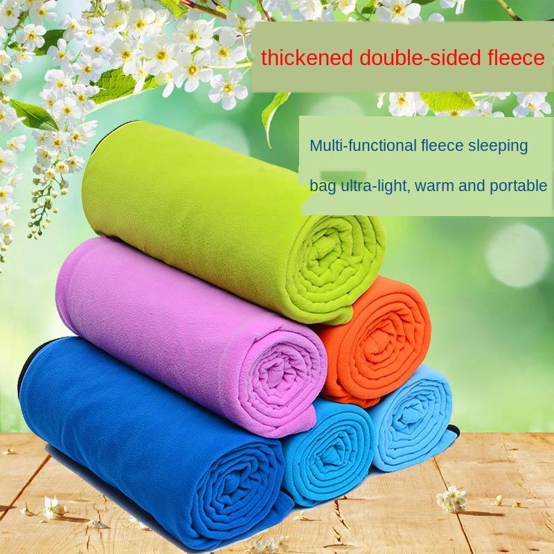 Double-sided thickened wool polar fleece dirty sleeping bag outdoor camping ultra light portable thickened fleece sleeping bag liner