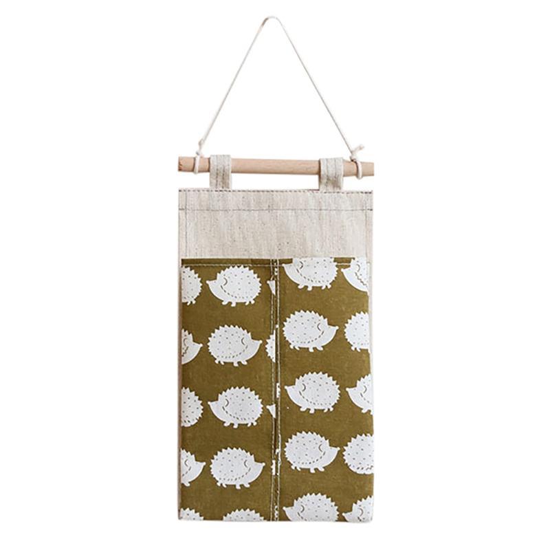 Badezimmer Wand befestigter hängendes Speicher-Beutel Leinengewebe Convenient hängend Tasche Gewebe Fall-Speicher-Organisator