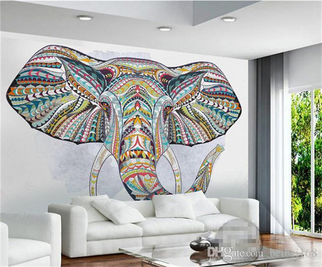 Wall Paper personalizzato Animal Elephant Foto Murale 3D per dimensioni salone TV Backsplash Minon sfondi Home Art parete personalizzato Decorative