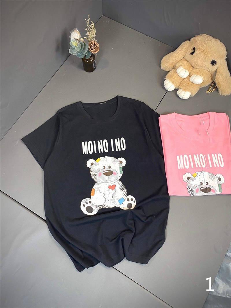 20SS T-shirts femmes d'été T-shirts unisexe doux T-shirts Beas Motif Neck Casual Femmes Hommes T-shirts Vêtements longue M-2XL