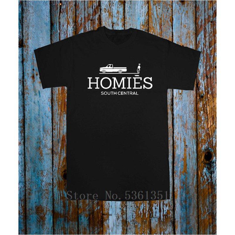 Homies voiture T T-shirt Haut O cou noir blanc Blogger Tumblr Rafraîchissez Celeb Hommes populaires Les Hauts Tee T-shirt unisexe Taille plus