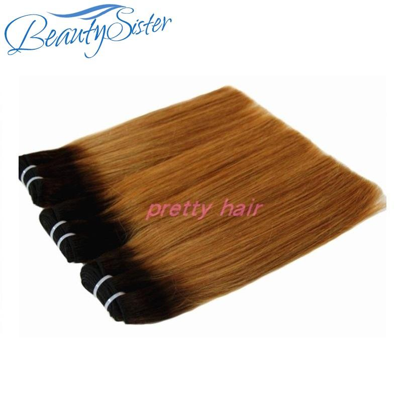 Super raw double drawn ombre human hair bundles brazilian virgin remy hair color1b/30 wholesale price for 1kg 10pcs make order