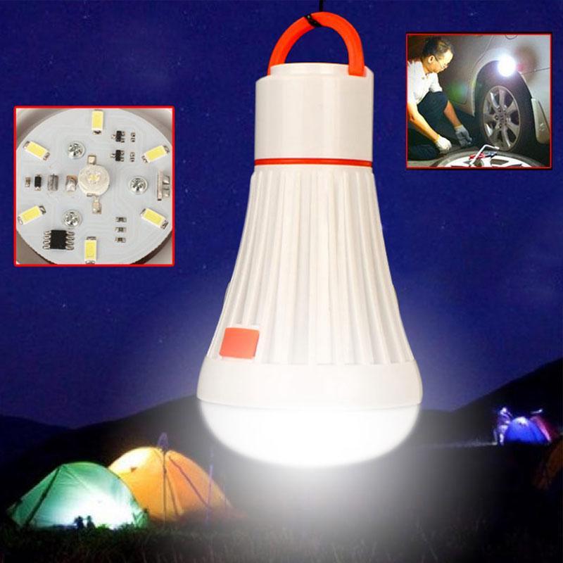 3W 4Modes портативных фонарики 6LED палатка кемпинга свет / 18650 Открытых задачи Освещения висячего Emergency лампочка