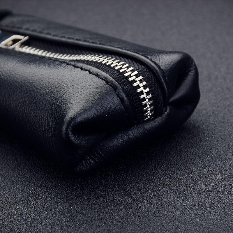 Korean case caseKey Chain case style women's household waist hanging bag practical cowhide Bag Owl fashion men's car key chain