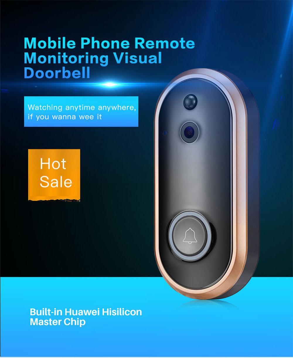 جديد 720P الفيديو الذكي الجرس اللاسلكية الأمن المنزل كاميرا 2-Way الحديث للرؤية الليلية الكشف عن البير