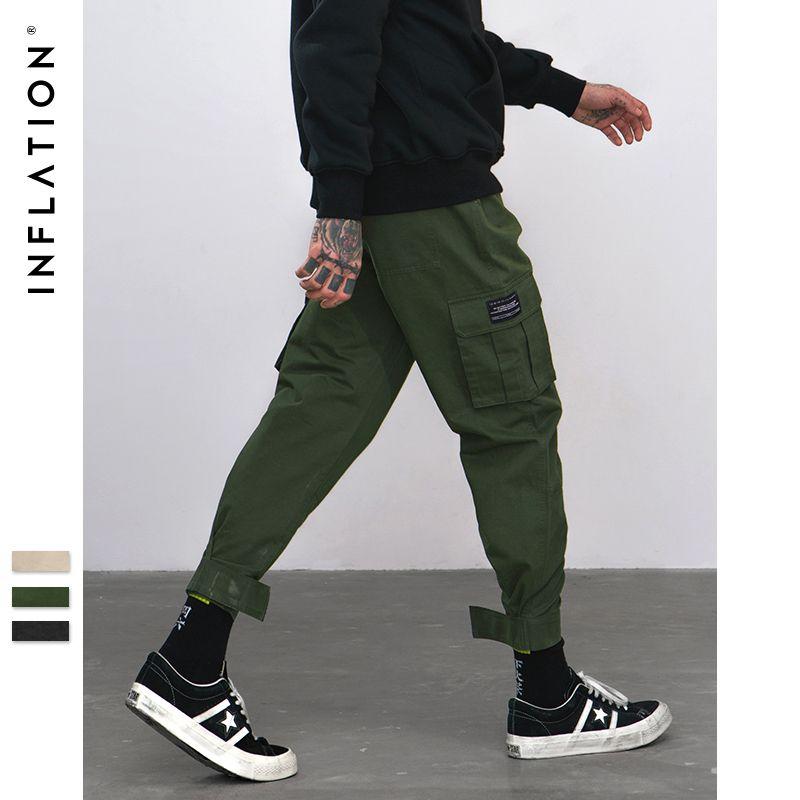 INFLACION 2020 nuevos pantalones ocasionales de los hombres High Street marca de ropa elástico Pantalones masculinos de los hombres Joggers polainas pantalones del lápiz 8869W CX200729