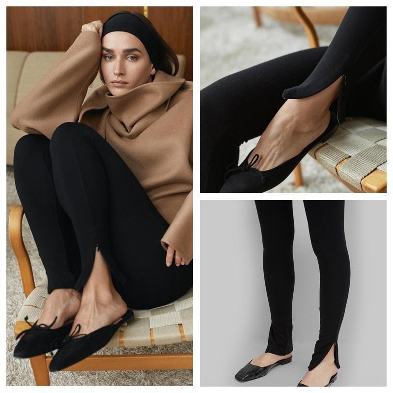uwuSV TOT Nordic Tight zipper classic Cork pants pencil split stretch leggings slimming pencil pants
