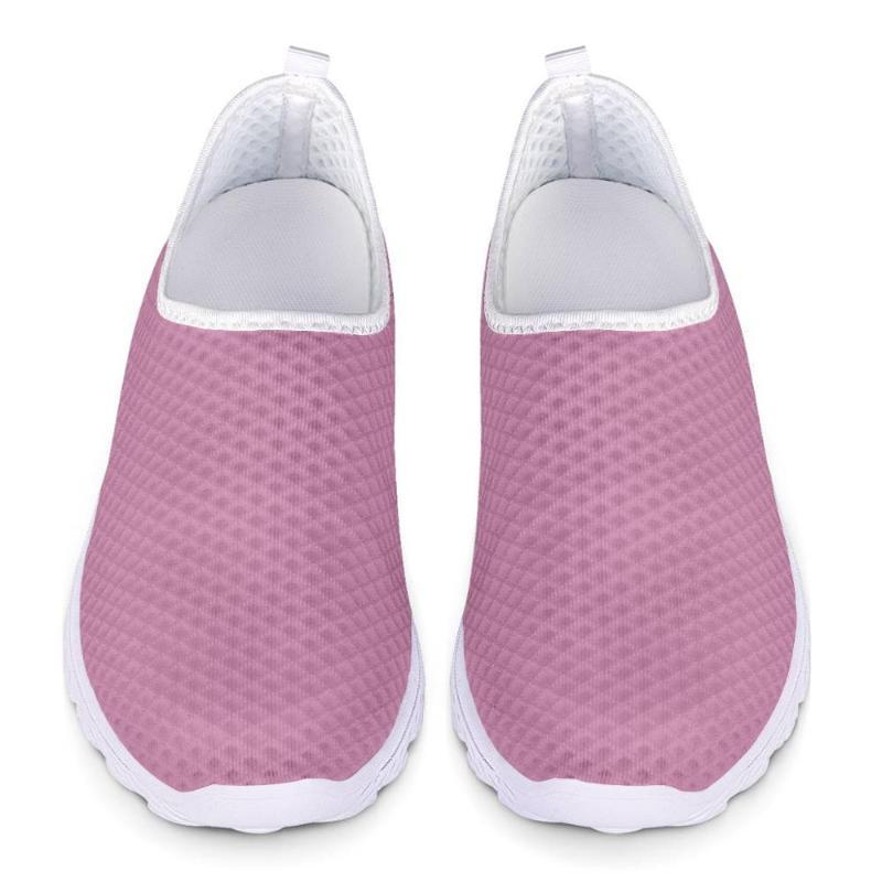 Mode printemps nouvelles femmes Chaussures rose 2020 Chaussures plates Casual pour femme maille respirante Marche sur mesure Tennis