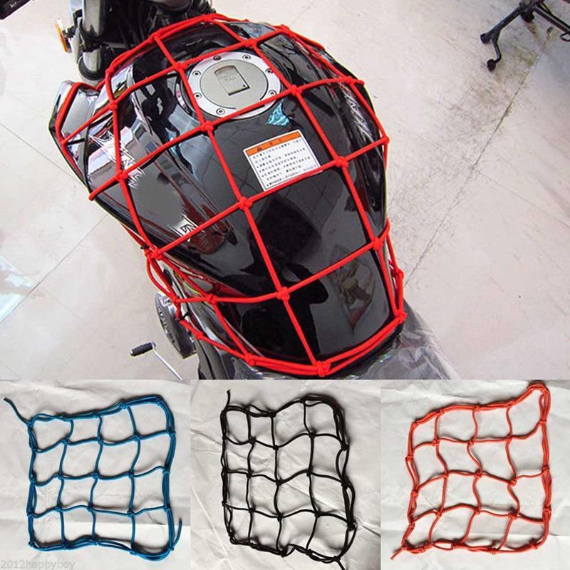 Universal Bungee Cargo Net Motorbike Helmet Storage Mesh Motorcycle Helmet Bungee Luggage Hold Down Storage Cargo Organiser Net