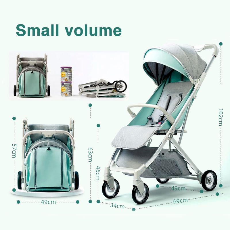 Ru navio livre! 2020 carrinho de bebê pode sentar reclináveis carrinho de bebê portátil dobrável não ocupa espaço 0-3 anos
