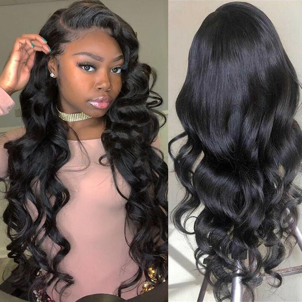 Кружева фронт человеческих волос Парики для женщин Body Wave 13x4 парик фронта шнурка с ребенком волос бразильский парик шнурка Non-Remy Fashion Queen