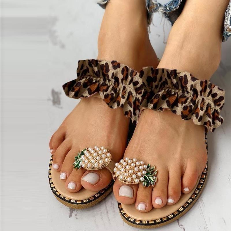 Sapatos de praia das mulheres Mulheres Meninas Pérola planas Bohemian estilo calçados casuais sandálias da praia do verão Sandálias para as Mulheres #z
