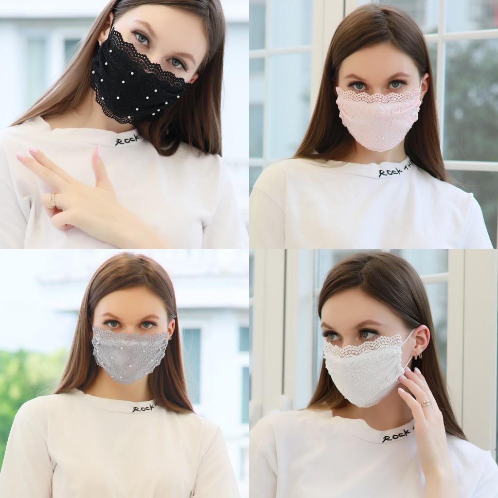 Maske Yüz Dantel Mascherine Moda Koruma Maskelerinin Açık Yaz Tasarım Bahar KFDHD Saf Ağız Bayan Solunum Seyahat Renkleri IIPWL