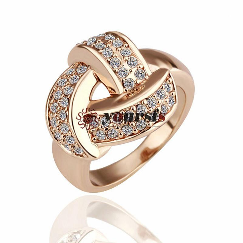 YourFs Nieuwe Top QULITY Mode Stijl Gift 18 K Wit Vergulde Gemstone Gebruik Oostenrijk Crystal Charms Wedding Love Rings Sieraden