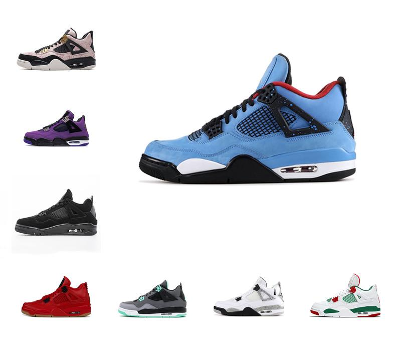 Wholesale cheap Bred White Cement 4 4s What The Cactus Jack Cool Grey Mens Basketball Shoes Concord Pure Money Royalty Men Sport Sneakers