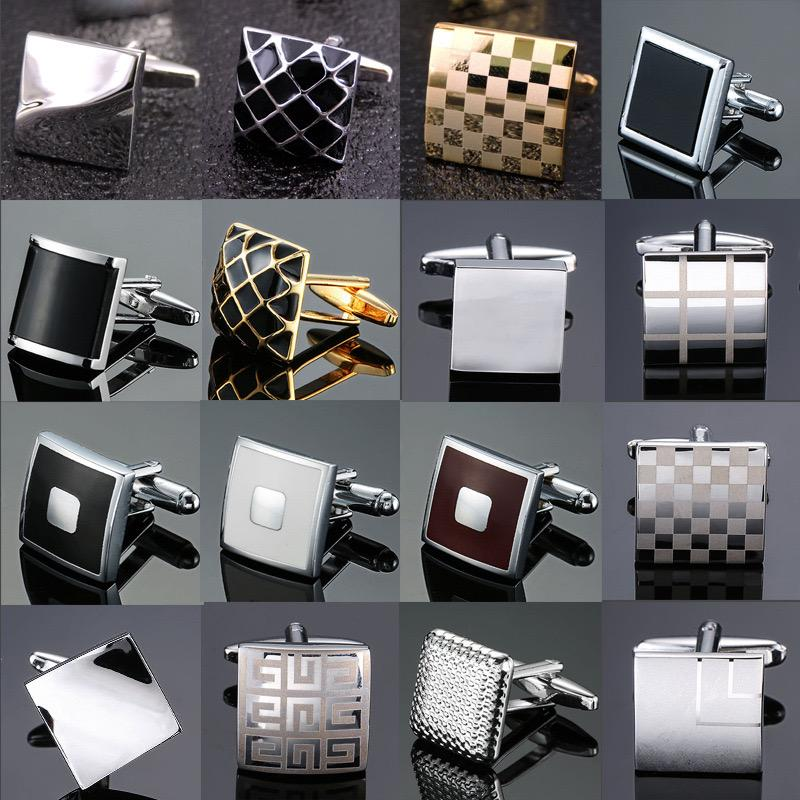 Fashion French Shirts Cufflinks for Men Vintage Plaid Pattern Cuff Links Wholesale European USA Hot Selling Cuff Links