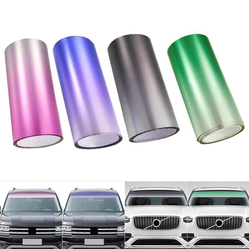 Autofenster Sonnenblende Streifen Tönungsfolie Vordere Windschutzscheibe schützt Schatten-Aufkleber-DIY